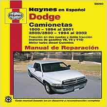 Dodge Camionetas: 1500 (1994 al 2001) y 2500/3500 (1994 al 2002