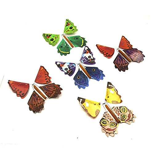 Gold Happy 5pcs Magic Toys Hand Transformation Fly Butterfly magic tricks Novelty Surprise Prank Joke Mystical Fun Classic Toys gadgets Gag