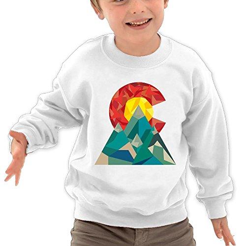 Puppylol Colorado Geo Kids Classic Crew-Neck Pullover Sweatshirt White 5-6 Toddler