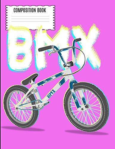 BMX Composition Book: Vintage 80s 90s BMX RACING Dirt Bike Wide Ruled Composition Book