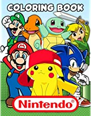 Nintendo Coloring Book: Awesome Gift For Game Lovers Which Providing Plenty Of Designs Of Nintendo