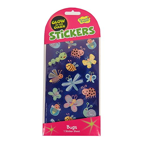 Peaceable Kingdom Glow in The Dark Bug Stickers