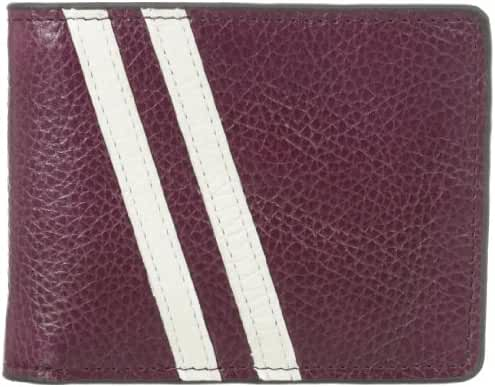 J.Fold Men's Roadster Slimfold Wallet, Plum/White, One Size