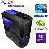 PC24 GAMER PC   INTEL i7-8700K @6x4,50GHz Coffee Lake   nVidia GF GTX 1080 mit 8GB RAM   16GB DDR4 PC2133 RAM   Gigabyte Z370 AORUS Ultra Gaming Mainboard   600Watt 80+ ATX Netzteil   Windows 10 Pro   i7 Gamer PC