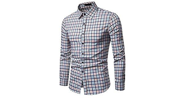 Wopop Mens Button Up Buffalo Check Classic Fit Long Sleeve Shirts