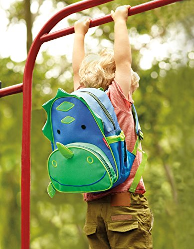 Skip Hop Zoo Little Kid and Toddler Backpack, Dakota Dinosaur