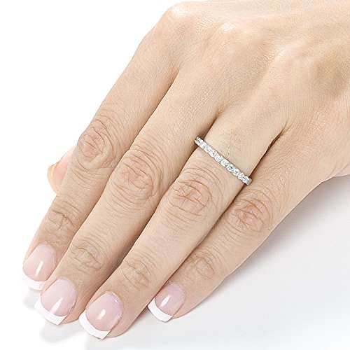 Amazon.com: Diamond Wedding Band 1/2 Carat (ctw) In 14K White Gold: Jewelry