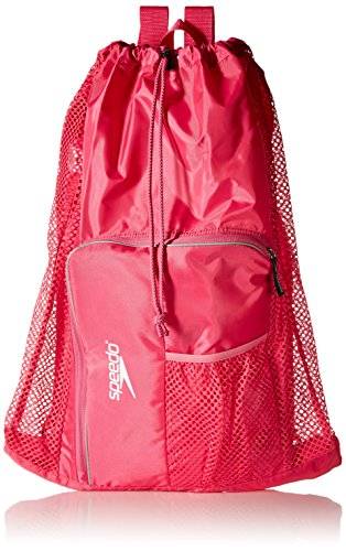Speedo Deluxe Ventilator Mesh Equipment Bag, Fuchsia Purple,