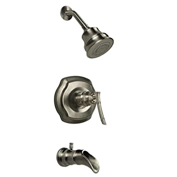 pegasus 873w9004 bamboo pressure balance tub and shower faucet trim with lever handle finish
