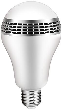 ICOCO Bluetooth Smart Speaker Light E27 LED White + RGB Bulb Colorful Lamp  Smart Music Audio