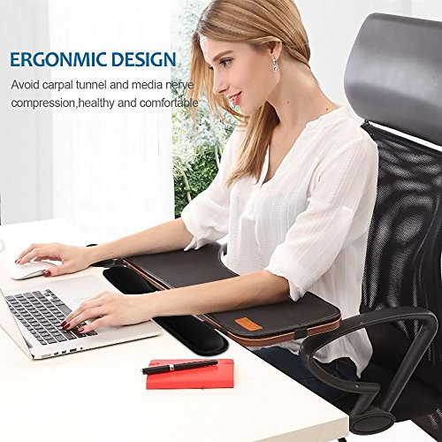 HENVREN Memory Foam Keyboard and Mouse Wrist Rest, Lightweight Support Pad for Easy Typing&Pain Relief, Durable&Comfortable Wrist Cushion Fit for Office, Computer and Home by HENVREN (Image #6)'
