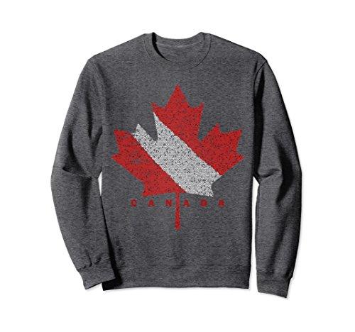 Unisex Canadian Dive Flag Scuba Diving Canada Diver Sweatshirt Small Dark Heather