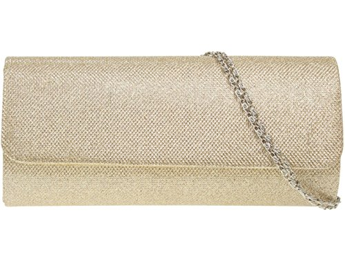 Shimmer Elegant Woven Clutch Girly Champagne Fashion HandBags Bag Ing7I8Yq