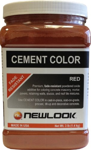 (NewLook 3 lb. Red Fade Resistant Cement Color )