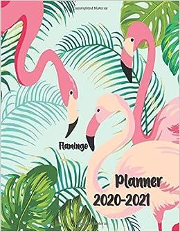 2020-2021 Planner Flamingo: 8.5x11 Full Size ... - Amazon.com