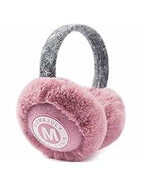 YOMOSI Women Girls Winter Foldable Ear Warmers Earmuffs for Outdoor light-purple