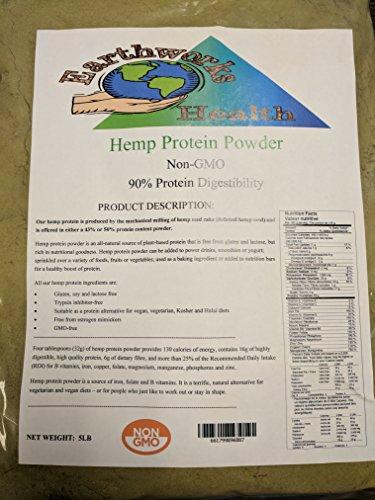 Hemp Protein Powder 5lb Bag by Earthworks Health LLC