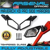 #5: UTV Can Am X3 Side View Mirrors Arsenal Pro Series Rear View Race Mirrors for Can Am Maverick X3 2017 2018 For Suzuki Quadracer 450 2006-2009 UTV OEM Fitment (1 Pair)