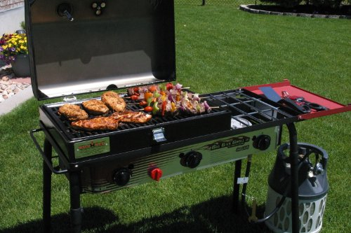 camp chef big gas 3 burner grill black red gas barbeque reviews. Black Bedroom Furniture Sets. Home Design Ideas