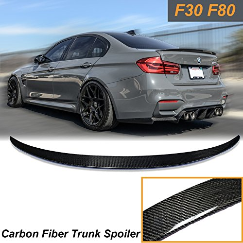 x xotic tech Trunk Lid Spoiler Wing Carbon Fiber Deck for BMW F30 F80 M3 Sedan Boot M Performance