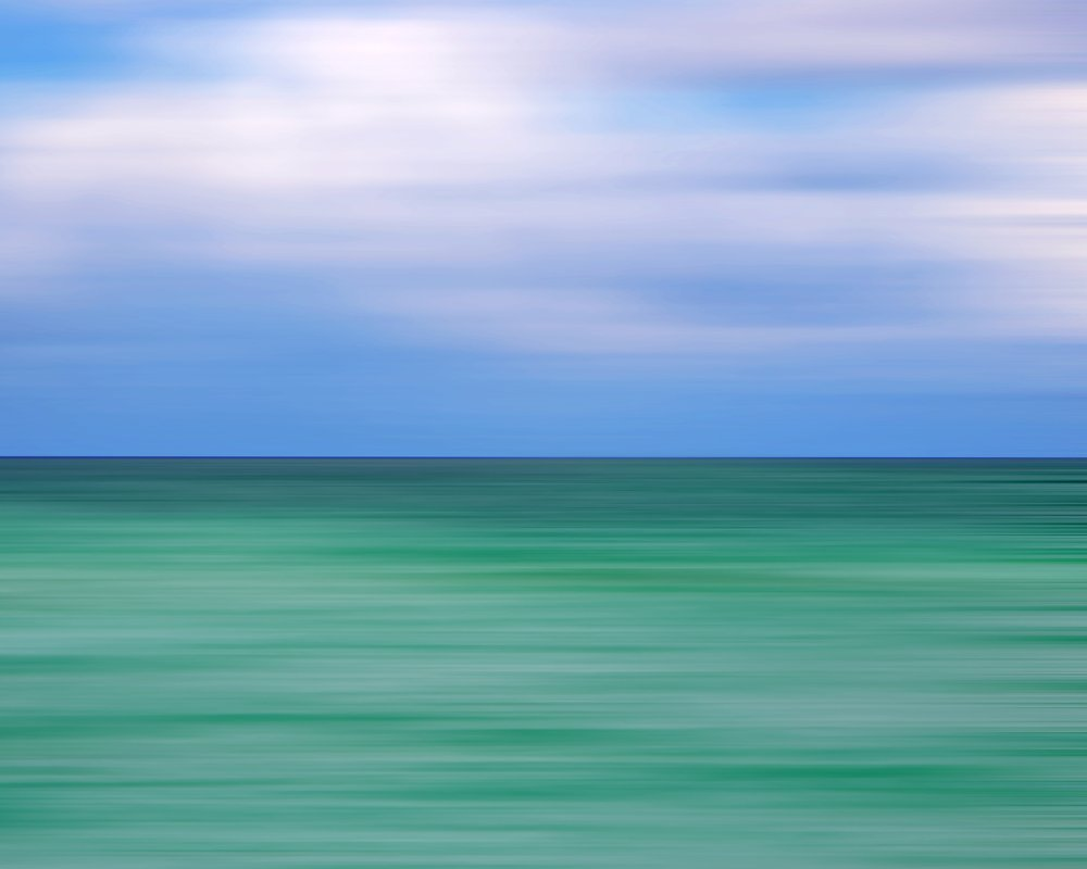 Good Morning Miami Beach Abstract Seascape Fine Art Photography Print by Roman Gerardo