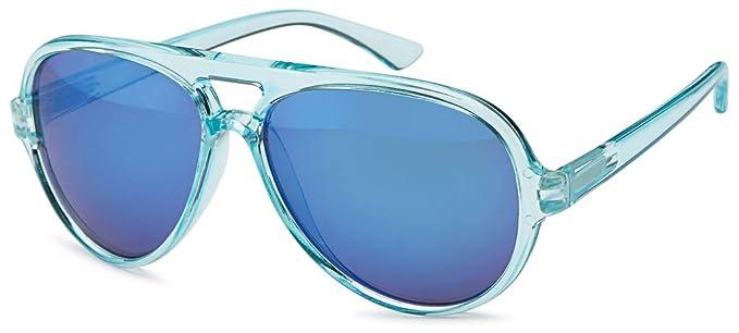 verspiegelt Sense42 Retro Pilotenbrille Sonnenbrille milchiger Rahmen