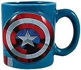 Vandor 26601 Marvel Captain America Shaped Ceramic Soup Coffee Mug Cup, 20 Ounce