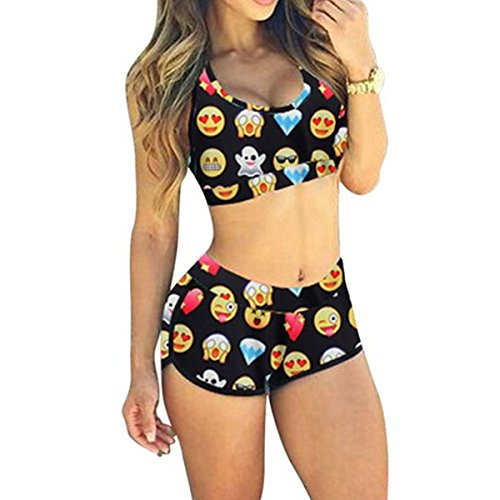 Rapidev Women Bandage Sporty Bathing Suit Boyleg Short Swimwear Swimsuit (Medium, - Swimsuits 2 Workout Piece