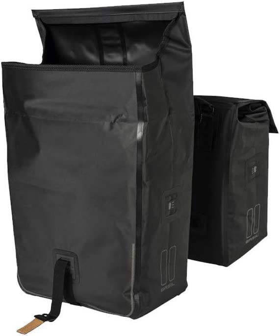 17782 Black Double Bag MIK Pannier 50 Liter Basil Urban Dry