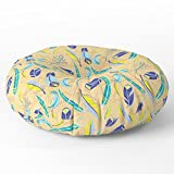 Society6 Aztec Southwest Feathers Floor Pillow Round 26'' x 26''