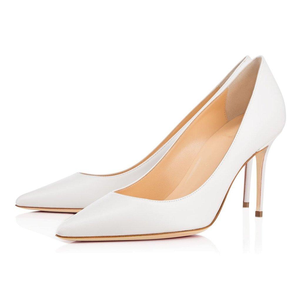 ELASHE Spitze Damen  Pumps  Damen  8CM Bequeme Lack Stilettos   Elegante High Heels 825dd8