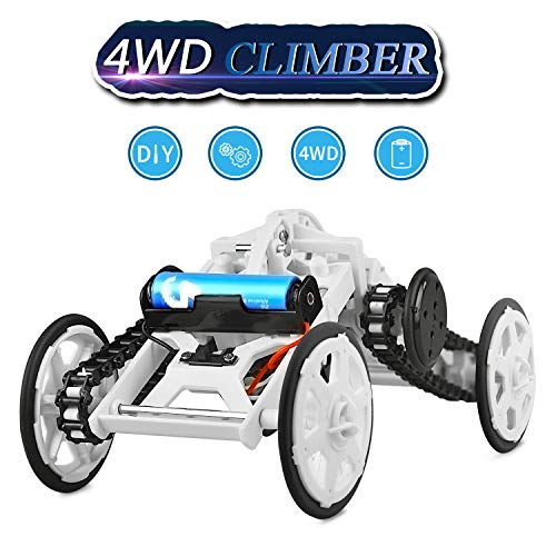 WIKI Toys for 6-12 Year Old Boys, Four-Wheel Drive DIY Climbing Vehicle for Kids Science Experiments for Teen Boys Girls Birthday Gifts Presents for Boys Girls Age 6-12 White WKUSCV01