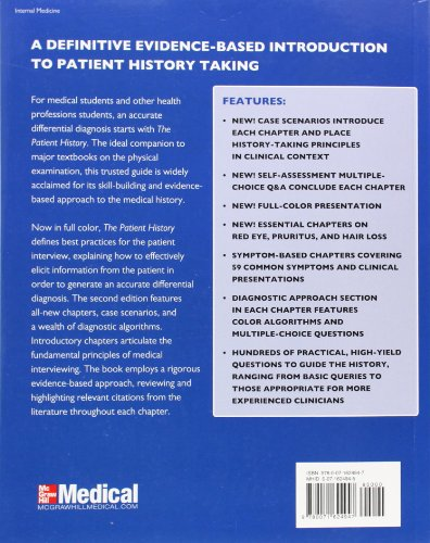 The Patient History: Evidence-Based Approach (Tierney, The Patient History)