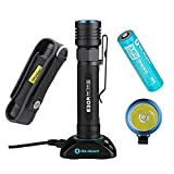Olight S30R Baton III Flashlight 1050 Lumens Variable-Output USB Rechargeable Side-Switch Cree XM-L2 LED Flashlight with Olight Rechargeable 18650 Battery (3500mAh) and Skyben Holstet