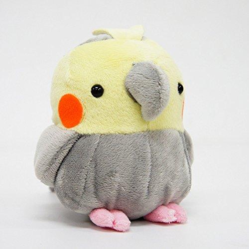 [Christmas Sale] Soft and Downy Medium Bird Stuffed Toy Doll (Cockatiel/Grey/M size 11 cm)