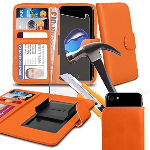 ( Red 155 x 76.9 mm ) Handytasche fŸr Ulefone Gemini Pro HŸlle HandyhŸlle pouch Gute QualitŠt DŸnn Kunstleder,Federklammer Clip on Adjustable Brieftaschen-Etui HŸlle HandyhŸlle Skin with Credit/Debit  Clip on wallets+ GLASS 5.5 inch (Orange)