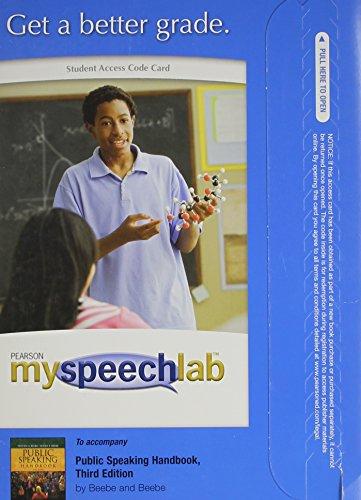 MySpeechLab -- Standalone Access Card -- for Public Speaking Handbook  (3rd Edition)