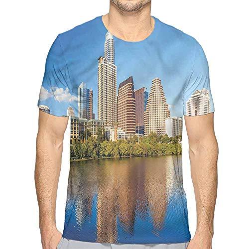 Comfort Colors t Shirt USA,Austin Texas Summertime View t Shirt M -