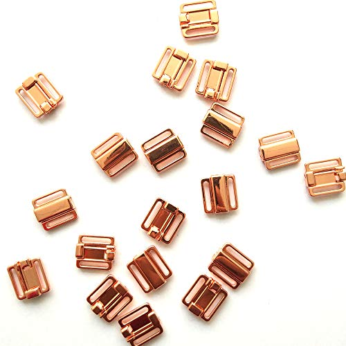 - 20Pcs/lot 12mm Craft Rose Gold Metal Rectangle Tape Closure Hook & Clasp Waist Extenders Sewing On Clothes Bra Clip Hooks