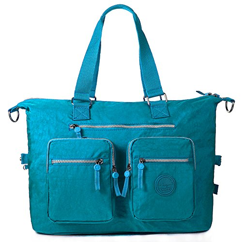 1212 Weekender blue Tote Nylon blue Large Travel Turquoise Bag 1212 Navy 4tXnqHwx