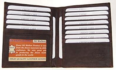 Men/'s Genuine Cowhide Leather Slim Hipster Bifold Credit Card ID Wallet New