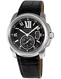 Mens W7100041 Calibre de Cartier Leather Strap Watch