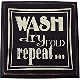 Laundry Room Shelf Wash dry Fold repeat Wood Sign for Home Dcor-- PERFECT LAUNDRY ROOM DECOR GIFT !!!