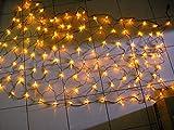 QCLED 200led Solar Powered Net Light Garden Net Lights Solar String Lights Solar Lights (warm white)