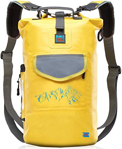 Waterproof Dry Bag for Camera - Submersible Backpack with Double Fixing Lock and Smart Storage - Drybags for Kayak Boating, Float, Canoe, and Other Water Activities - 20l Yellow