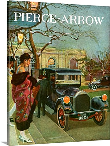 CANVAS ON DEMAND 2429775_24_16x20_None CanvasOnDemand Premium Thick-Wrap Canvas Entitled 1920's USA Pierce-Arrow Magazine Advert Wall Art Print, 16