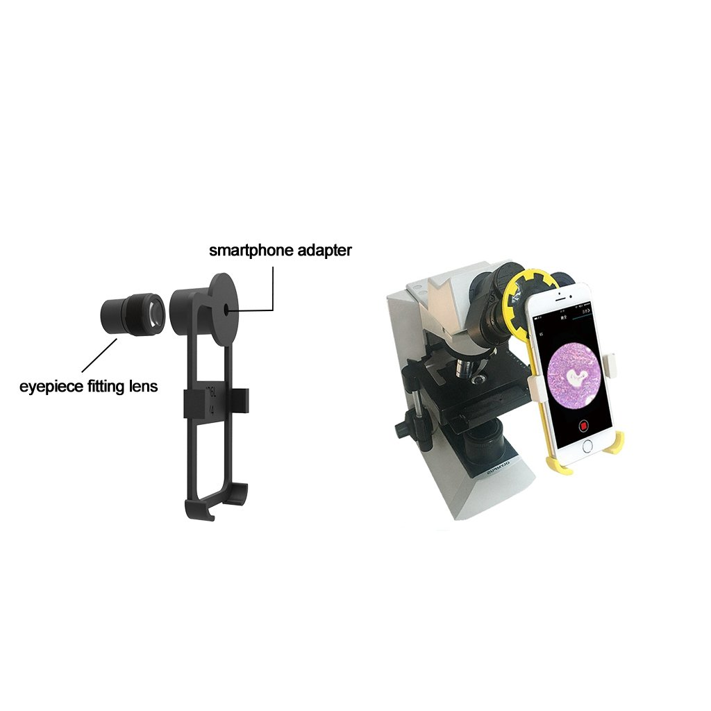 Microscope Smartphone Adapter with 23.2mm Built-in Eyepiece for iPhone 5/5s/5se