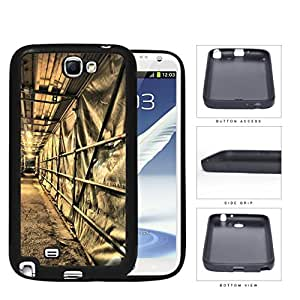 Tunnel Motorway Under Construction Rubber Silicone TPU Cell Phone Case Samsung Galaxy Note 2 II N7100