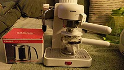 Krups Espresso Mini 963 White Electric Cappuccino Espresso Coffee Maker Machine 800 Watts