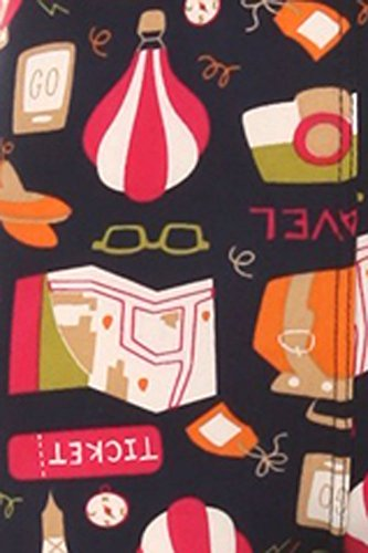 iZZYZX Kid's Travel Ticket Theme Pattern Printed Leggings - S/M by iZZYZX (Image #1)